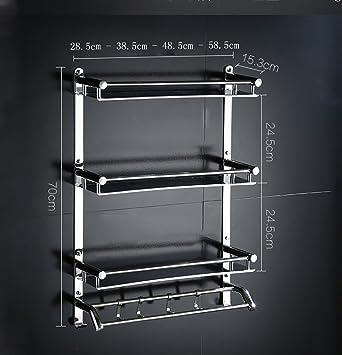 Bathroom Rack Badezimmer glasregal Bad Regal/Glas Wand Wc ...