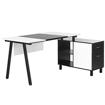 merax l shaped desk with storage cabinet computer desk stylish computer desk home and office amazoncom coaster shape home office computer