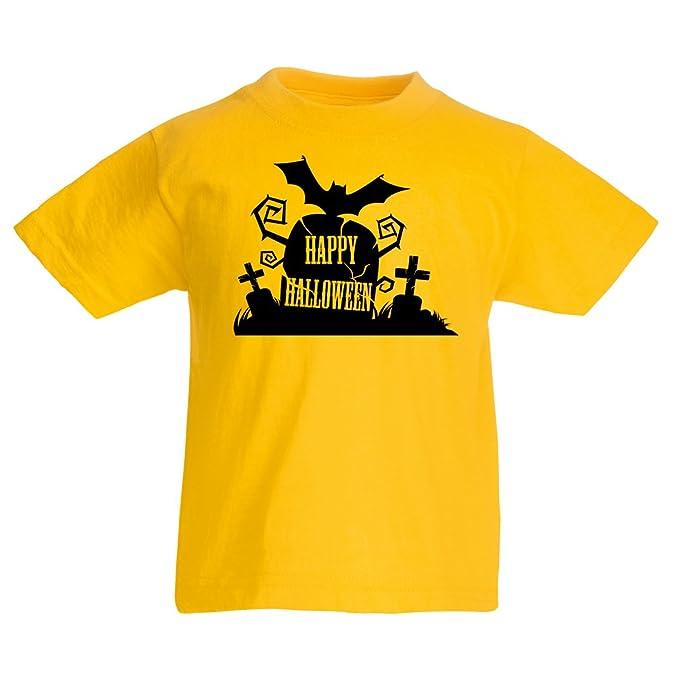 Camiseta Niños/Niñas Cementerio de Halloween: Ideas para Disfraces, Ropa Fresca y diseño Aterrador. Noche de Todos los Santos: Amazon.es: Ropa y accesorios