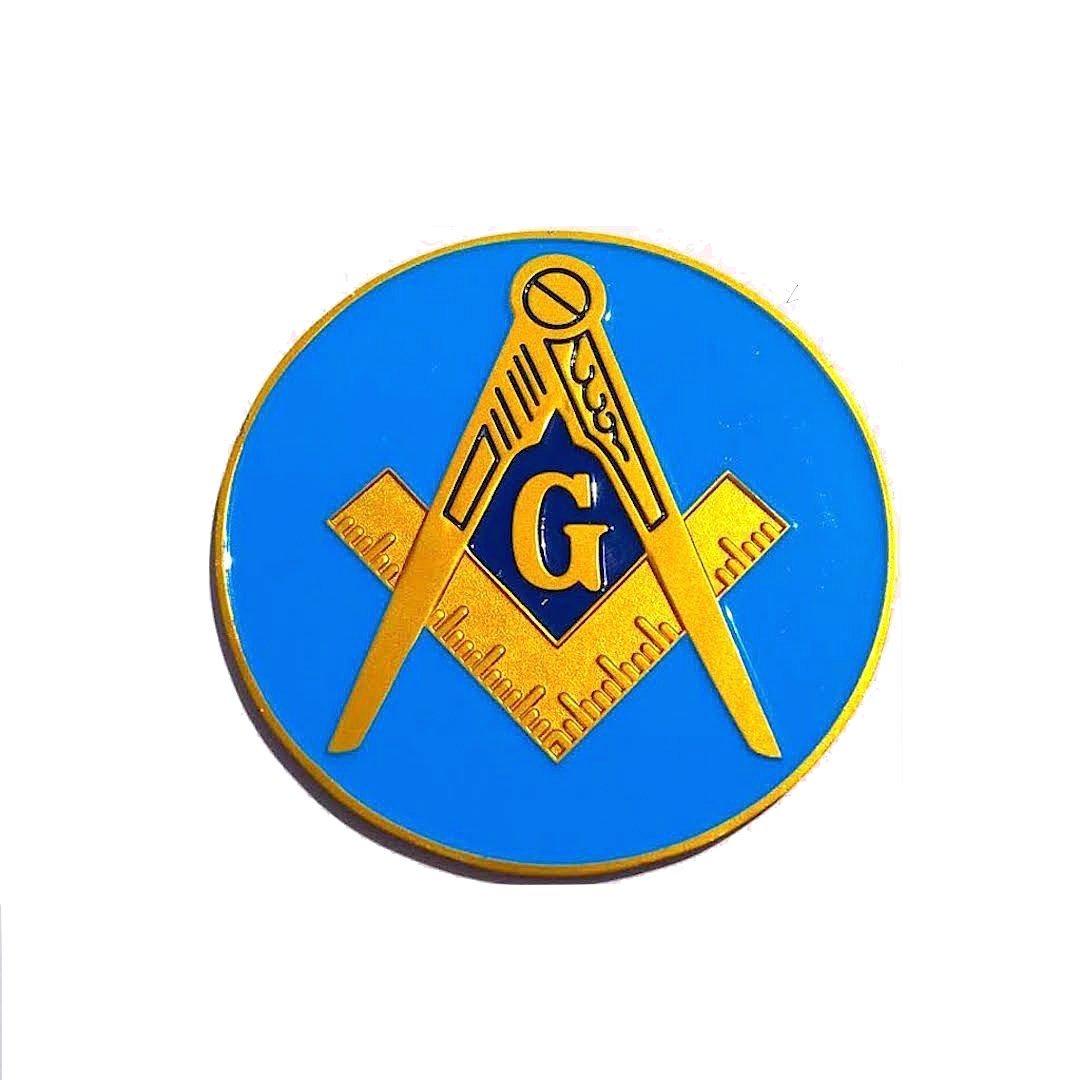 Freemasonry Blue Blue Lodge Fine Aluminum Auto Car Emblem For Master Mason Pride Equinox Masonic Regalia AE-6061ALE761