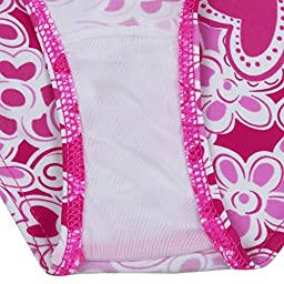 FEESHOW Kids Girls 3 Pieces Tankini Swimsuit with Skirt Bathing Suit Size 12-14 Hot Pink