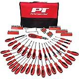 Performance Tool W1721 Juego de destornilladores con estuche, 100 piezas