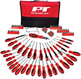 Performance Tool W1721 Screwdriver Set with Pouch, 100-Piece