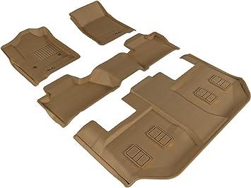 Classic Carpet Black 3D MAXpider Complete Set Custom Fit Floor Mat for Select Chevrolet Suburban Models