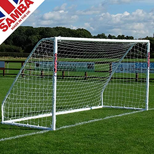 - Samba Soccer Goal - Match Grade 8x6- Our Top line Premier Locking uPVC Goal That is Perfect for Field or Home. Great All Weather Goal so Leave it Out All Year. Made in The UK.