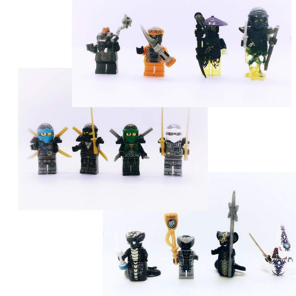 New Ninja Movie Crew Cake Toppers or Party Favors 12 pc Set
