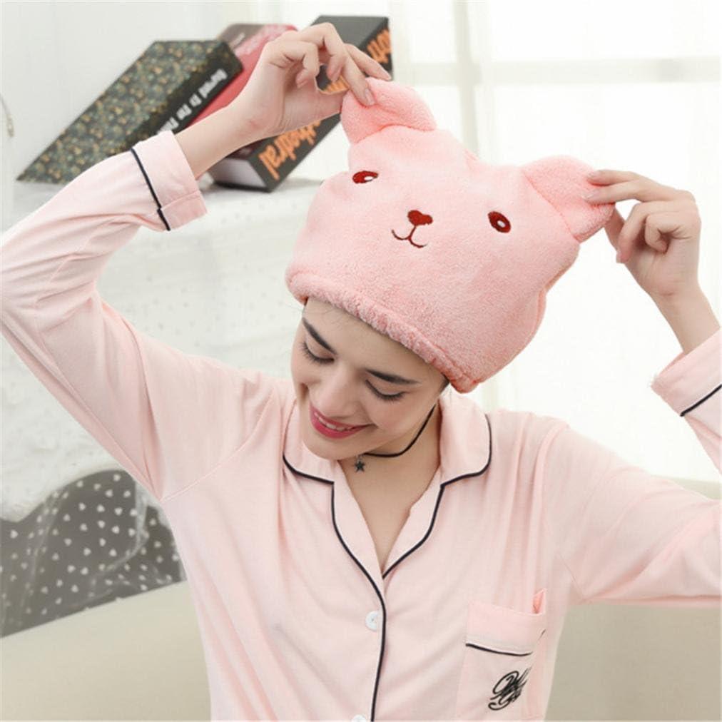 Clearance! Wensltd Cute Bear Microfiber Hair Towel Turban Quickly Dry Hair Hat Wrapped Towel Bathing Cap
