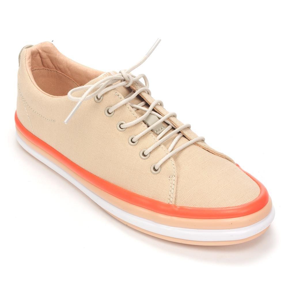 Camper Women's Hoops Sneaker,Light Beige Cotton,EU 40 M