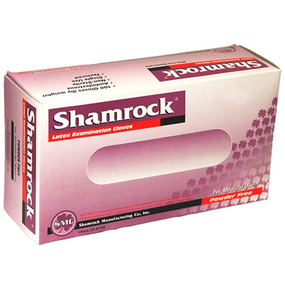 Shamrock 10112-M-cs Med Glove, thin, No Powder, Slick Surface Latex, Medium, Natural by Shamrock