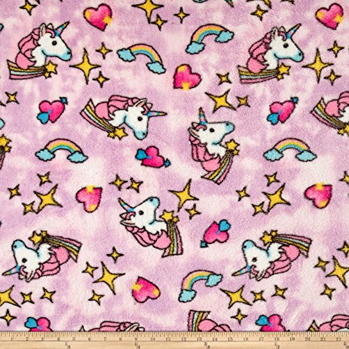 Fleece Baby Patterns - Newcastle Fabrics Whisper Plush Fleece Unicorn Cool Pink Fabric by The Yard,