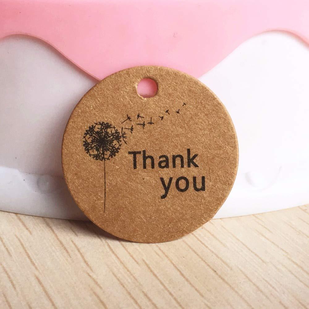 9d8f3cc2e80b Amazon.com: Lysee 100 pcs 3cm Multi Cute Brown Paper Gift Label tag ...
