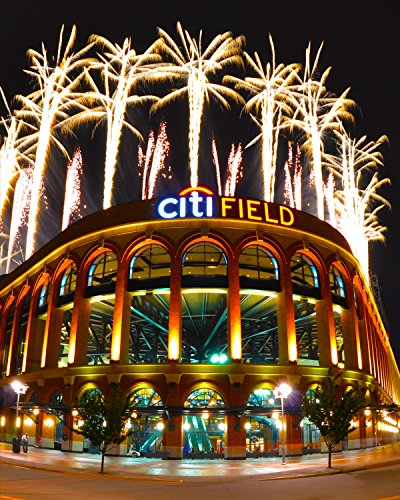 New York Poster Citi Field Shea Stadium Manhattan Photograph 16x20 Inches