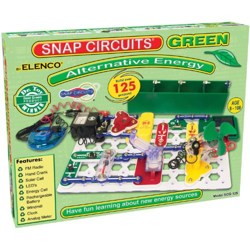 Snap Circuits Alternative Energy Green Electronics Exploration in Alternative Energy Kit | Over 125 STEM Projects | 4-Color Project Manual | 40+ Snap Modules | Unlimited Fun -