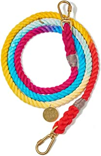 product image for Found My Animal Rainbow Ombre Cotton Rope Dog Leash, Adjustable Small