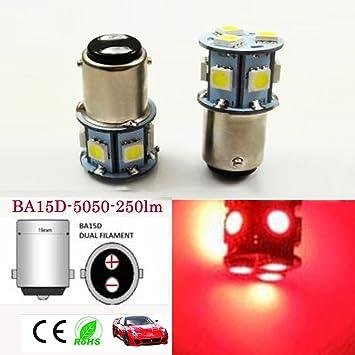6 V Ba15d 1142 1078 5050 8-SMD 250LM LED bombilla de repuesto para luz