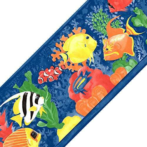 Fish Wall Border - Tropical Fish Prepasted Wall Border Roll