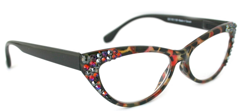 Bling Reading Glasses W/Swarovski Crystals
