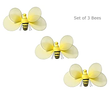 3pcs Set Bumble Bee For Butterfly Garden Decorations Baby Nursery Decor