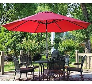 Abba Patio 11 Feet Patio Umbrella Outdoor Table Umbrella With Push Button  Tilt And Crank