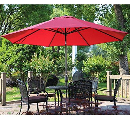 Patio Umbrella For Table: 11-Feet Umbrellas Patio Outdoor Table With Push Button