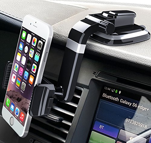 Bestrix Universal Dashboard Smartphone Car Mount Holder, Cell Phone Car Mount, Phone Holder for iPhone X / 8 / 7 Plus / 6S / 6S Plus / Galaxy S8 / S8 Plus / S7 / S7 / S9 / Edge / LG / Nexus