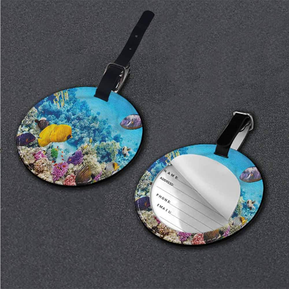 Cute Luggage Tag Fish,Ocean Animals Id Tag Suitcase Carry