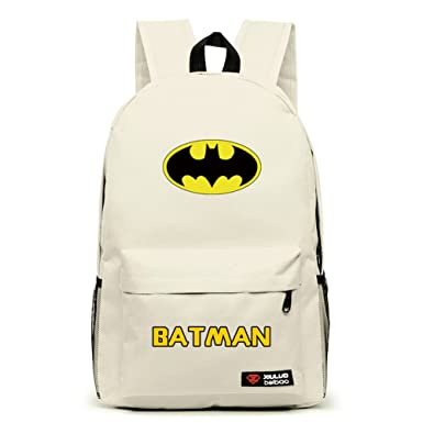 d589b54dfe4 YOURNELO Leisure Batman High Capacity Rucksack School Backpack Bookbag (A  Beige)