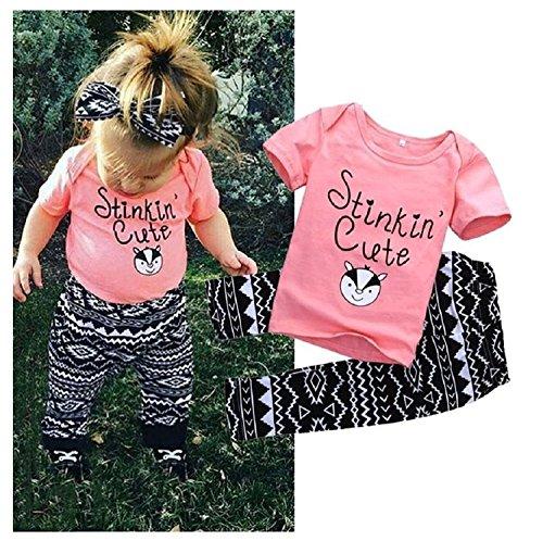 Mefarla Newborn Infant Baby Kids Girls T-shirt Tops Long Pants Outfit Clothes Set (18-24Months)