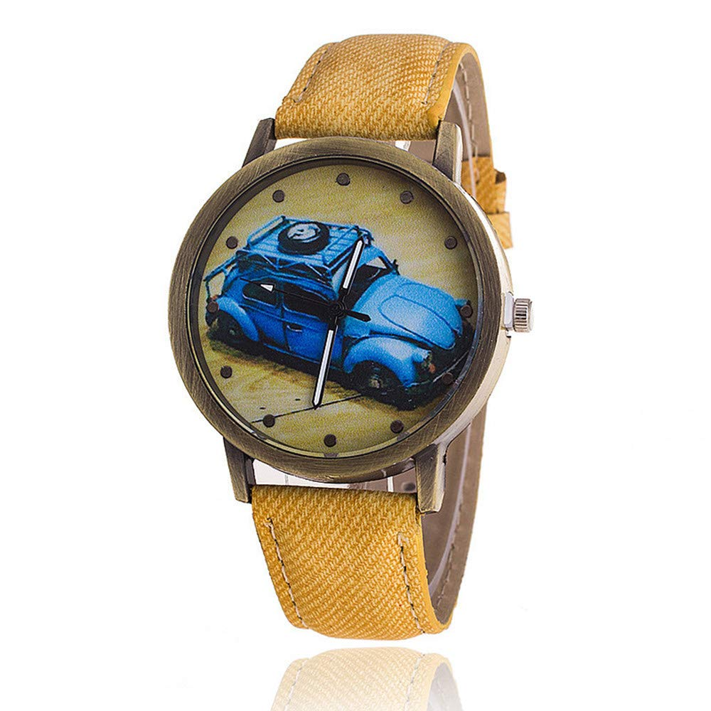 COOKDATE Damen Uhr Analog Quarz mit Armband Kaffee