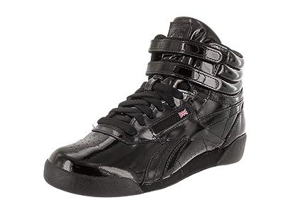 b3039473fe3 Reebok Kids F S Hi Patent Black Casual Shoe 4 Kids US