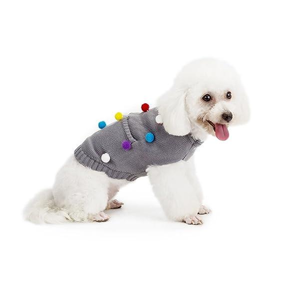 zolimx® Ropa para Perros, Suéter de Punto de Sudadera con Capucha ...