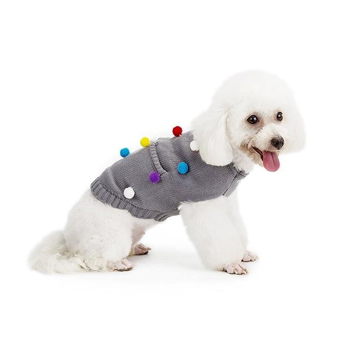 zolimx® Ropa para Perros, Suéter de Punto de Sudadera con Capucha del Perro Pequeño Traje Caliente del Animal Doméstico: Amazon.es: Ropa y accesorios