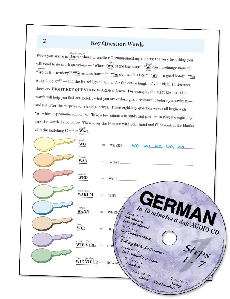 GERMAN in 10 minutes a day® AUDIO CD by Brand: Bilingual Books, Inc. (Image #6)