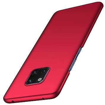 anccer Funda Huawei Mate 20 Pro [Serie Colorida] [Ultra-Delgado] [Ligera] Anti-rasguños Estuche para Carcasa Huawei Mate 20 Pro (Rojo Liso)