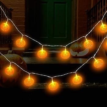Amazon.com : MUIFA Halloween String Lights, Cute Pumpkin Ghost Bats ...