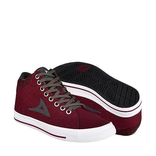 9d7c055b1b702 PIRMA Zapatos ATLETICOS Y URBANOS 422 22-24 Lona GUINDA  Amazon.com ...