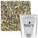 Tealyra - White Peony - Bai Mu Tan White Loose Leaf tea - Premium Chinese White Tea - Organically Grown - Caffeine Level Low - 100g (3.5-ounce)