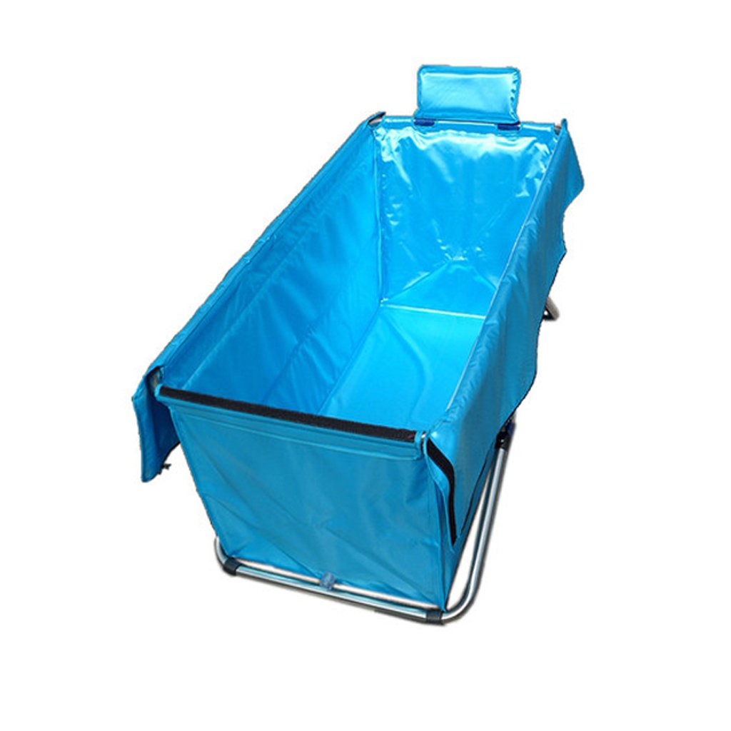 YUGANG Bathtub barrel Adult portable bathtub Thickened inflatable independent portable with comfortable high quality soft safety bathtub Blue 105cm*56cm*52cm MANYI