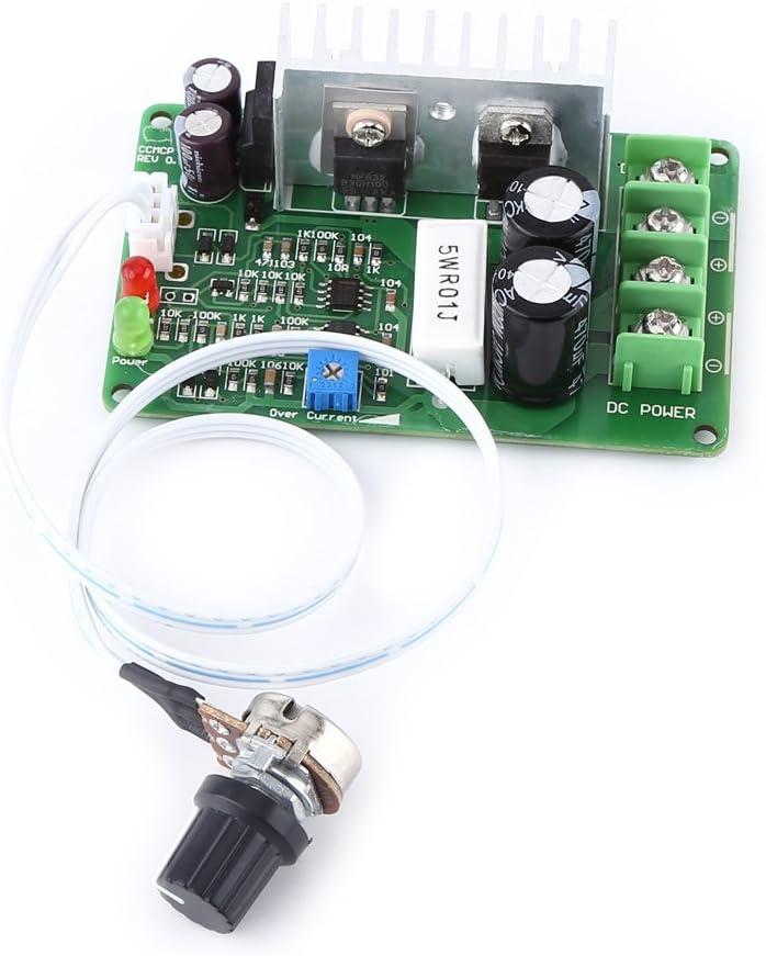 DC PWM Controlador de Velocidad Reversible Interrupto de Velocidad Ajustable Regulador de Velocidad Protector de Sobrecorriente Protector de Sobrecarga 12V / 24V / 36V 15A