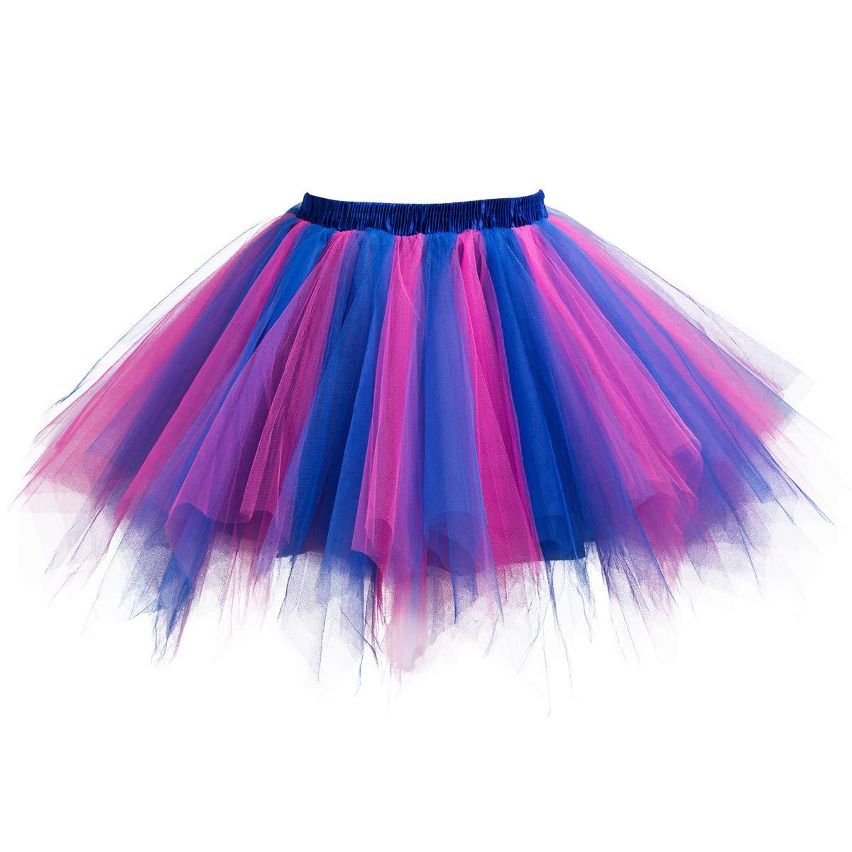C-Oral Petticoat Unterrock 50er Reifrock Underskirt Crinoline Damenrock für Rockabilly Kleid SFD