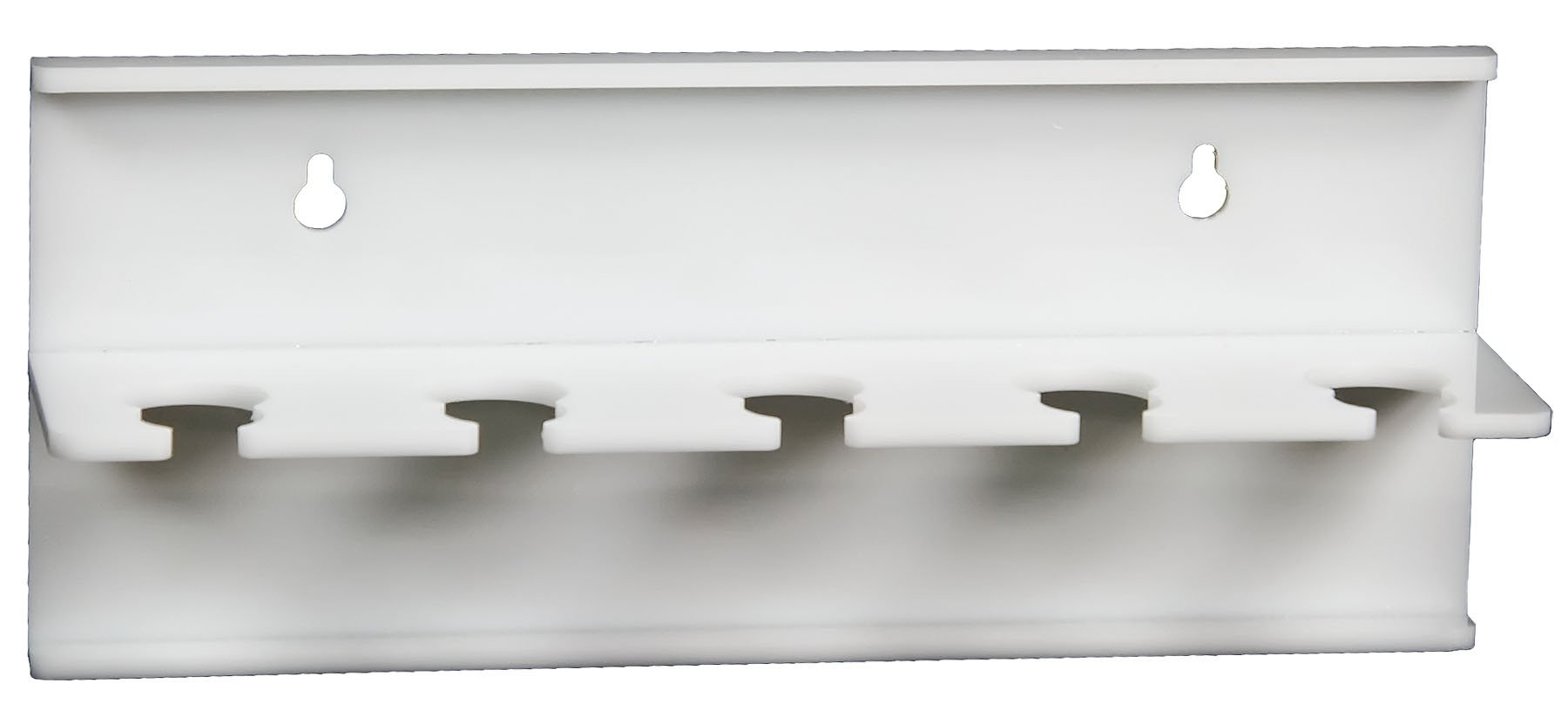 TrippNT 50696 Wall Mountable Auto Pipettor Holder with 5 Slots, 10'' x 5'' x 3'' WHD