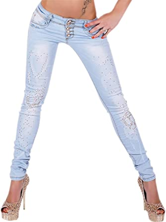 1c6f61ea2bf865 Sexy Women's Skinny Ripped Jeans Ladies Casual Trousers Size 6, 8, 10, 12,  14 UK - 34, 36, 38, 40, 42 EU (M UK 10 EU 38): Amazon.co.uk: Clothing