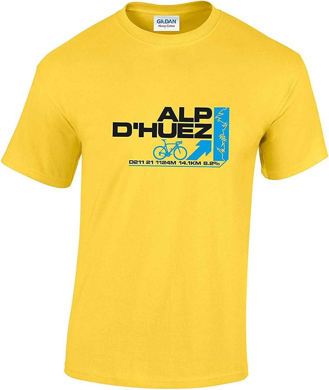 Rinsed D huez Alpino Tour de Francia Ciclismo Camiseta: Amazon.es: Ropa y accesorios