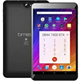 Time2 10 Zoll Tablet PC Android 7.0 Nougat, 3G Dual SIM entsperrt Phablet, GMS Google zertifizierte Tablet, IPS HD, GPS, Dual-SIM, 16GB, bis zu 256GB SD-Kartenspeicher, 5MP Kamera, Bluetooth/WiFi/ WLAN Tablet-Computer *Modell 2018 (8 Zoll Tablet)