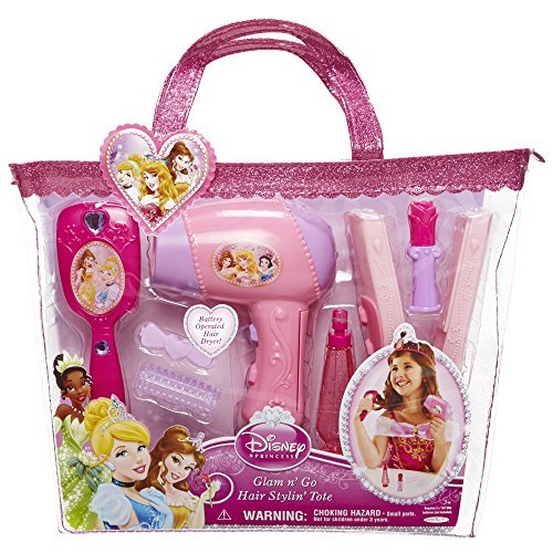 Amazon Disney Princess Glam Hair Stylin Tote By Toys Games