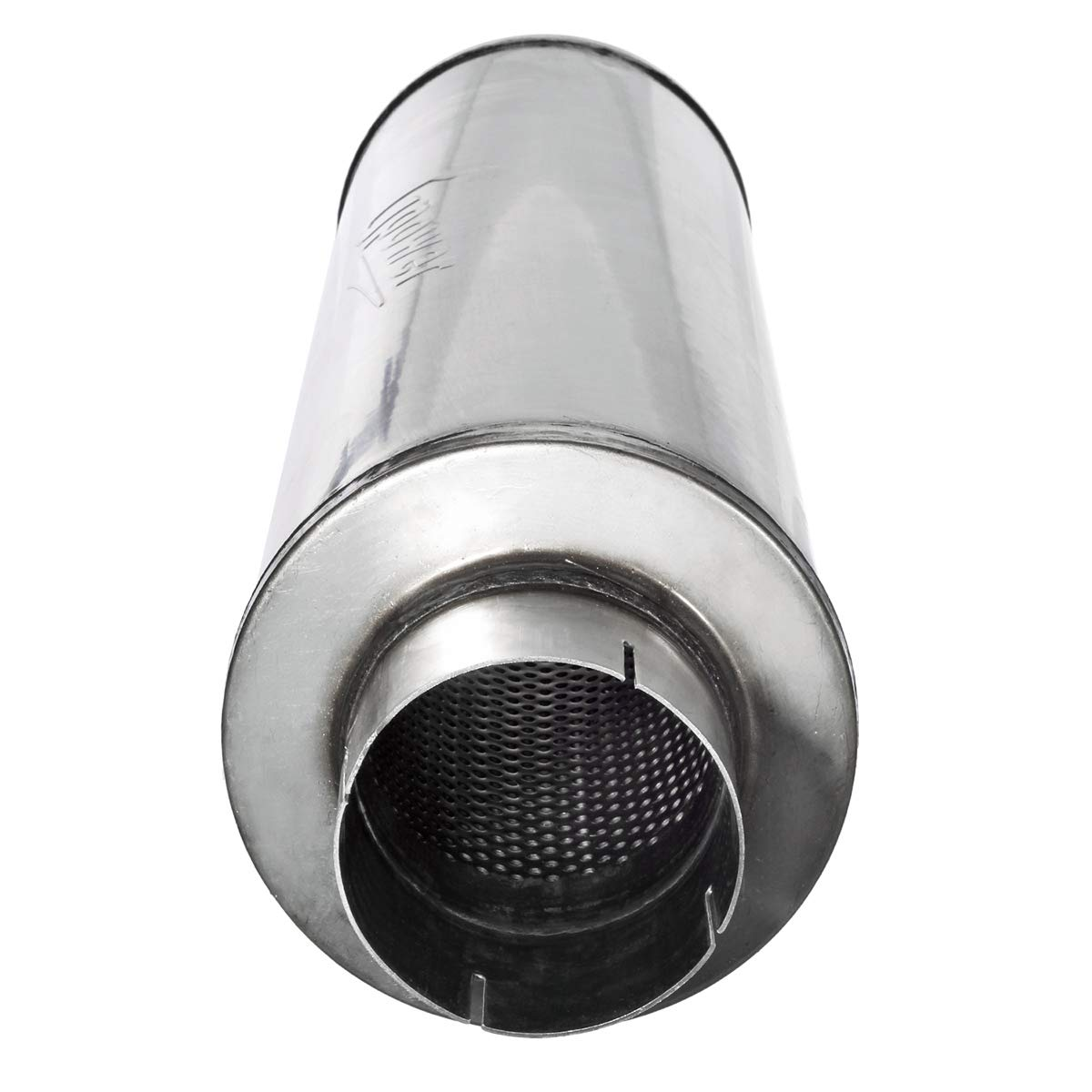 Straight Through Upower 4 Inlet Stainless Steel Diesel Exhaust Muffler 7 x 24 Body 30 Whole Length XS2772