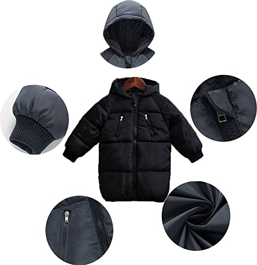 b91a21540 Amazon.com: LANBAOSI Baby Boys Girls Winter Coat, Toddler Kids Warm Hooded Jacket  Outerwear: Clothing