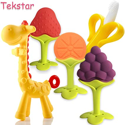 Cute Baby Teether Toddler Infant Perfect Soothing Teething Toy BPA Freea