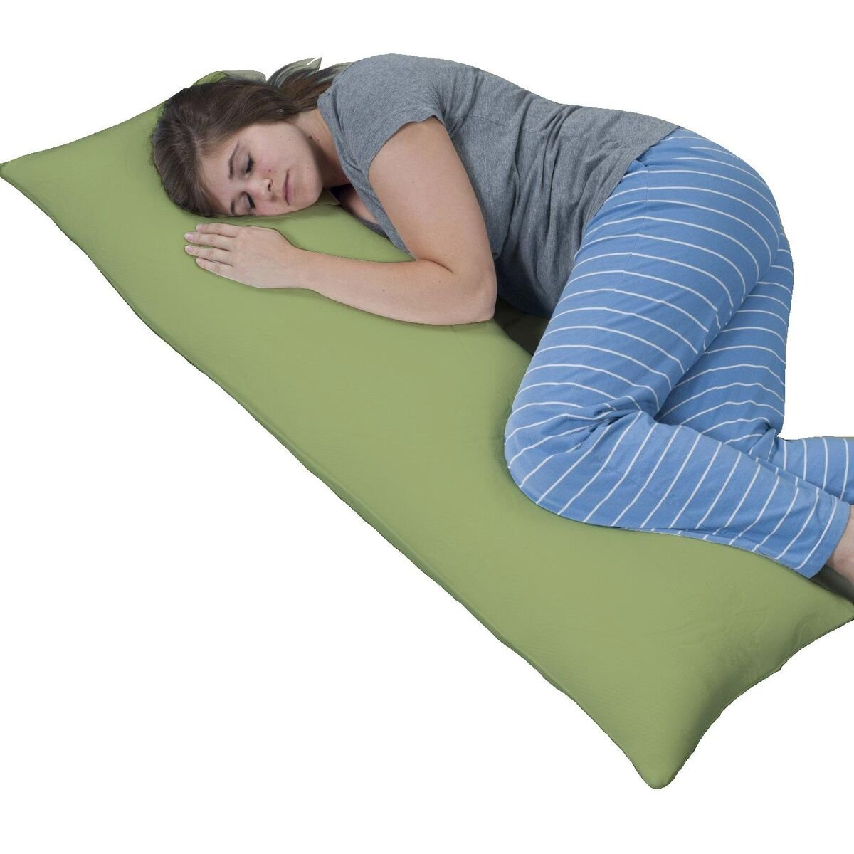 Sage Green MF-BP-SGE Crescent Bedding 1800 series soft and comfy Microfiber Body Pillow Cover