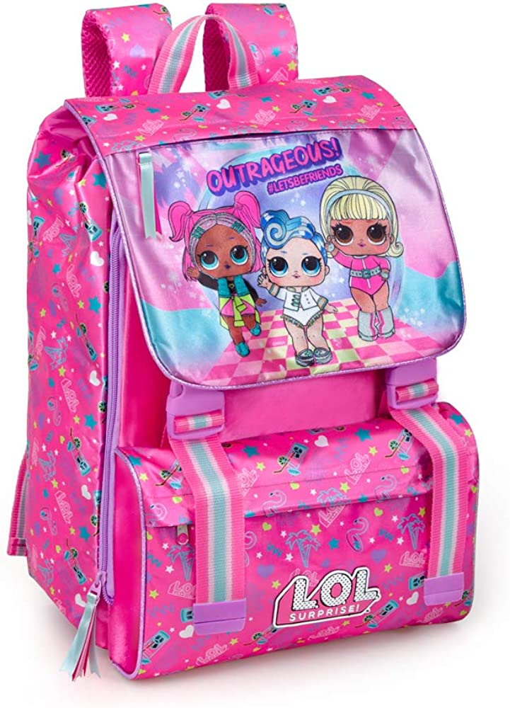 Multicolore 40 Centim/ètres Polyester Enfant Lol Surprise Sac /à Dos